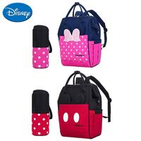 DISNEY Baby Diaper Bag Cartoon Minnie Mickey Mouse Infant Women Backpack Large Fashion USB Bottle Insulation Bag Nappy Organizer
