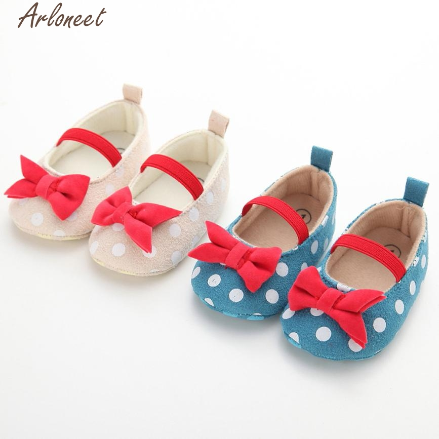 Baby Shoes Dot Butterfly Anti-Slip Soft Toddler Shoes Princess Shoes