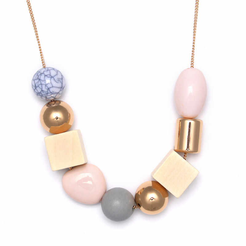 Darmowa wysyłka popularne panie biżuteria nowe drewniane kamień wisiorek ręcznie nosić wisiorek dziewczyny długi odcinek naszyjnik sprzedają się jak ciepłe bułeczki