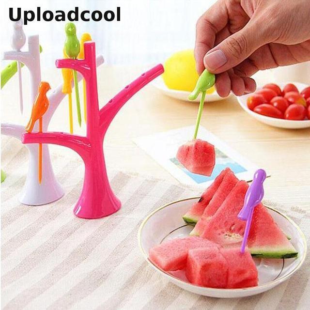 A nova ferramenta de cozinha acessórios de cozinha legumes frutas garfo criativo fruto garfo vara eco-chic gadgets
