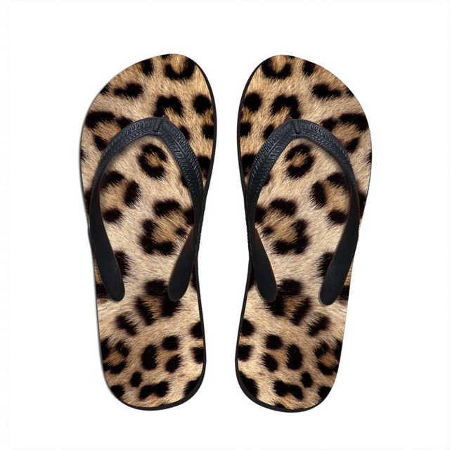 72c06c618a239 Noisydesigns boys slippers Men flip flops sandals summer wild leopard tiger zebra  print slide shoes Men beach footwear hot wear