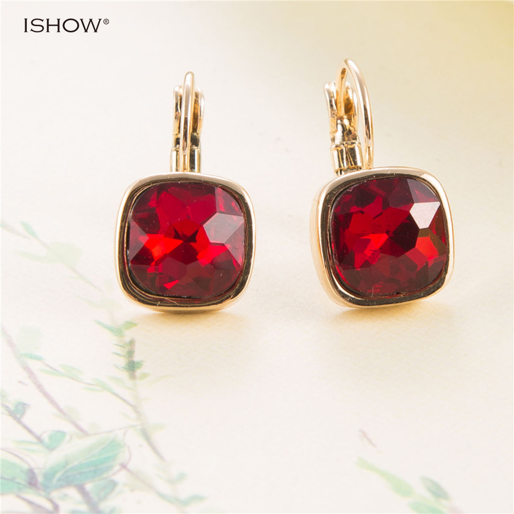 Christmas Gifts 2.2 Cm Red Bride Earrings Vintage Wedding Earrings Crystal Brinco Statement Jewellery Drop Earings Mujer