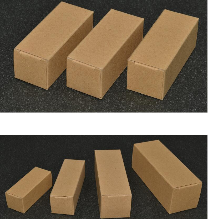 Caja de embalaje para aceites esenciales, caja de embalaje para cosméticos, de cartón, de papel, grande, pequeña y larga de 24 tamaños, botella de Perfume rectangular, caja de papel de embalaje