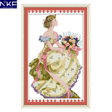 NKF Spring queen needle craft Chinese cross stitch