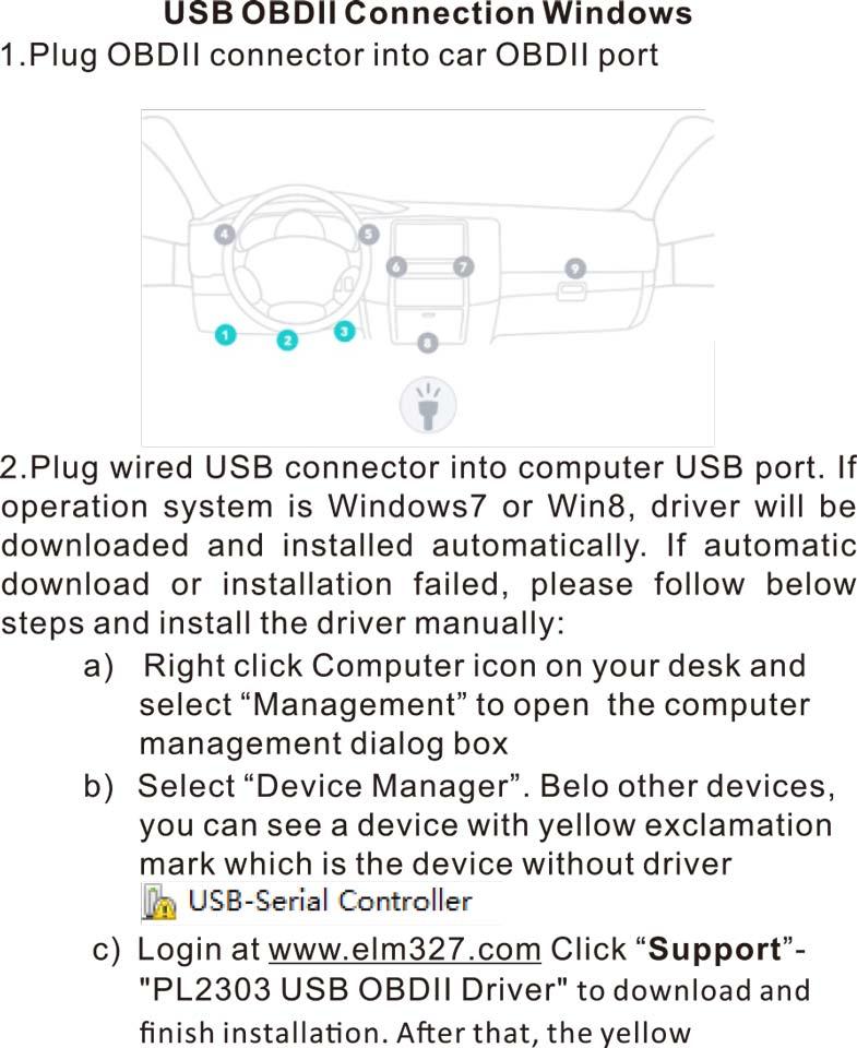 2) FT232RL Chip ELM327 USB V1.5 ODB2 Car Diagnostic Interface Scanner ELM 327 USB OBDII ELM-327 OBD 2 Auto Diagnostic-Tool1