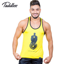 Taddlee Brand Men Top Tees Shirt Muscle Tank Fitness Workout Gasp Sports Running T shirts Sleeveless Cotton Stringers Singlets