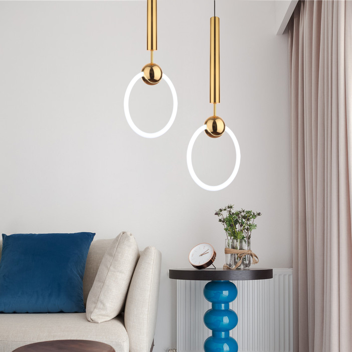 Golden ring hanging behind the bed chandelier bar bar coffee shop clothing store lights ZL9 moring ya74 the golden ring of russia vladimir suzdal