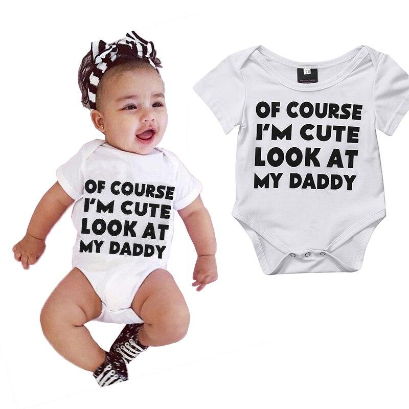 Nouveau-né bébé garçon fille mignon coton body lettres nouveau-né bébé garçons filles body onesie one-pieces tenues enfants vêtements