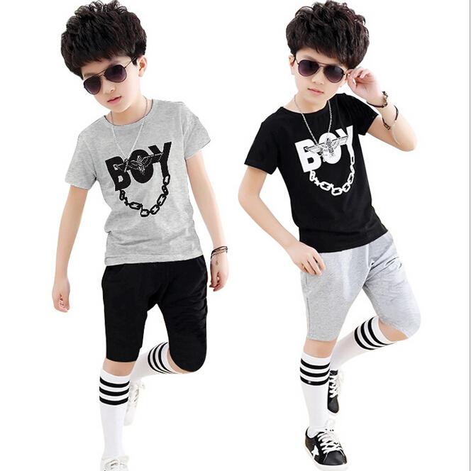 7f06eea5 Kids Hip Hop Clothing Boys Sets Cool BOY Letter T shirt and Pants 2 Pieces  Summer Toddler Boys Sport Suit-in Clothing Sets from Mother & Kids on ...