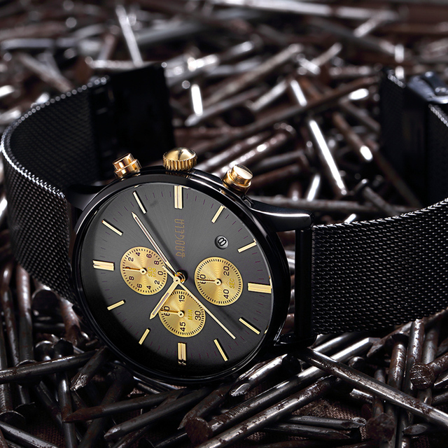 BAOGELA  Sports quartz-watch stainless steel Men Watches  1