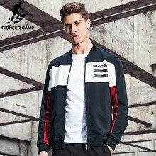 Pioneer Camp Новое прибытие Весна куртка мужчины бренд clothing пальто моды для мужчин высокое качество лоскутное хип-хоп куртки мужчины AJK702056