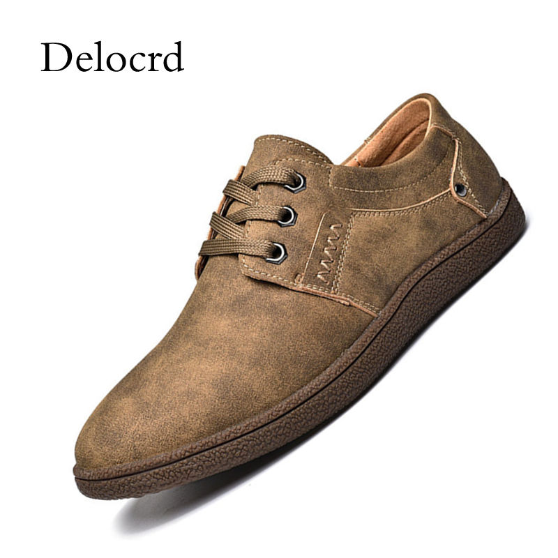 Men Casual Shoes Big Size 46 Leather Shoes Simple & Stylish Oxford Shoes For Male Retro Lace-up Style Sneakers Shoes Delcord men s leather shoes vintage style casual shoes comfortable lace up flat shoes men footwears size 39 44 pa005m