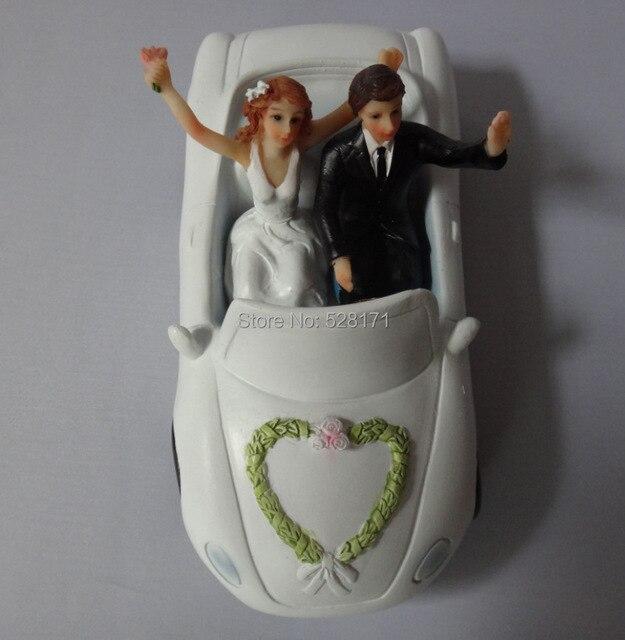 Free Shipping Casamento Bride And Groom Resin Wedding Cake Topper
