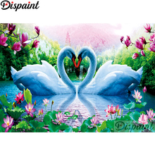 Dispaint Full Square/Round Drill 5D DIY Diamond Painting Animal swan scenery Embroidery Cross Stitch Home Decor A10669