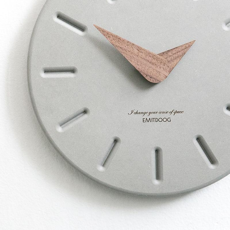Grote Wandklok Minimalistische Nordic Klokken Houten Muur Horloge Modern Design Home Decoratie Accessoires Mode horloge muurschildering-in Wandklokken van Huis & Tuin op  Groep 2