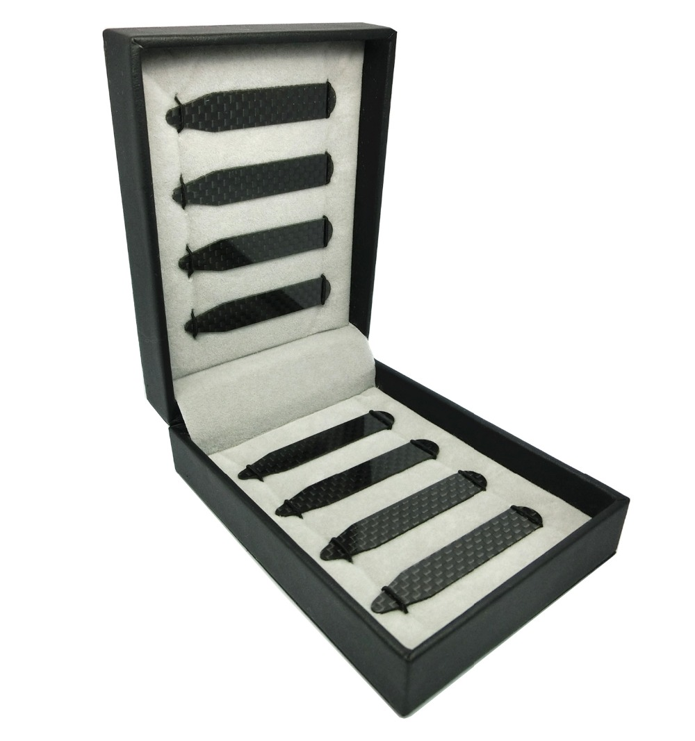SHANH ZUN Real Carbon Fiber Collar Stays For Man Shirt Accessories 2 Sizes In Gift Box 2.2 Inch And 2.37 Inch