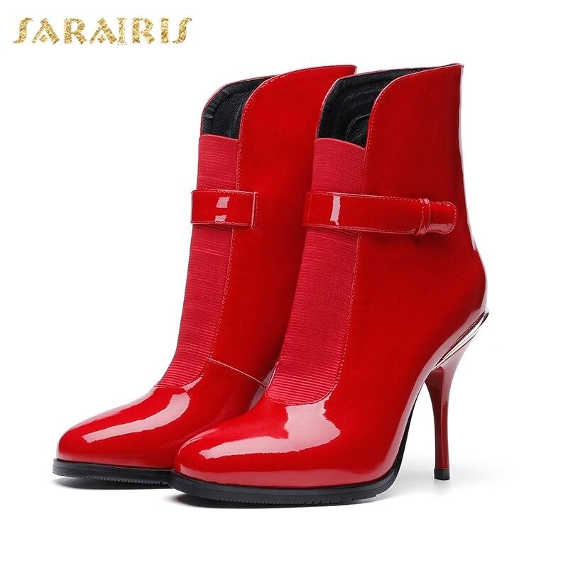 Rouge Doratasia Bottes Talons De En Femme Élégant Chaussures