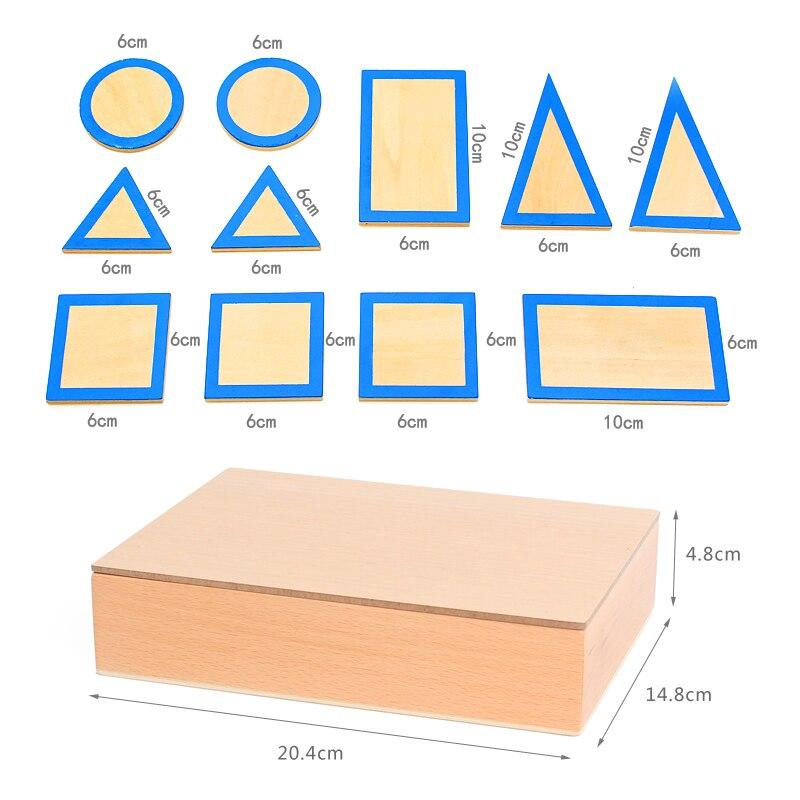 Jouets Montessori en bois bébé Montessori géométrique solides éducatifs jouets d'apprentissage précoce pour enfants cadeau d'anniversaire MI2544H - 3