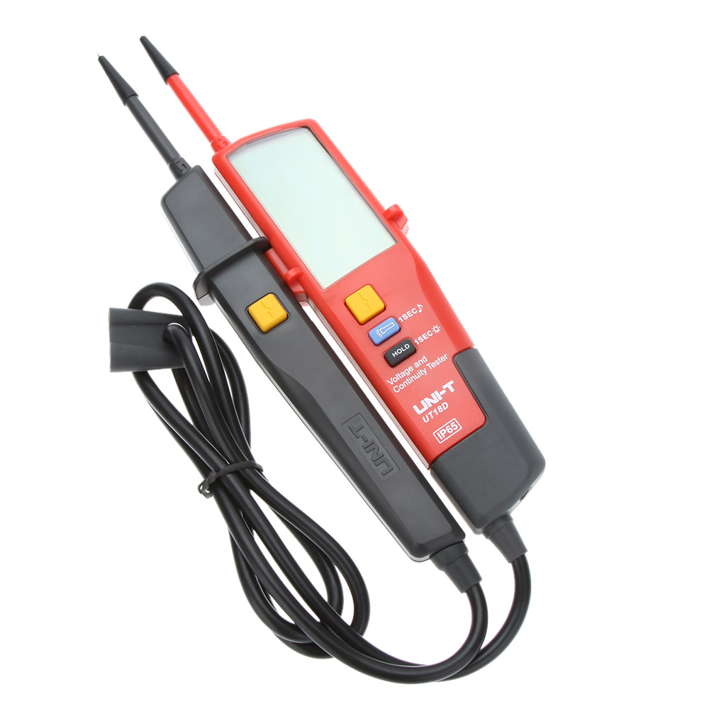 UNI-T UT18D Auto Range Voltage Mater Continuity Tester with LCD Backlight Date Hold RCD Test Self-inspection Volt Detectors Pen mini voltage and continuity tester multi function auto range voltage teter pen lcd digital voltmeter with date hold rcd test