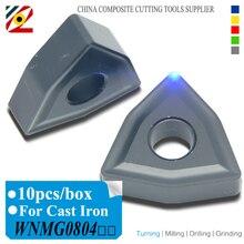 EDGEV CNC Carbide Inserts WNMG080404 WNMG080408 or WNMG431 WNMG432 WNMG Turning Tungsten Blade for Cast Iron K Type Material