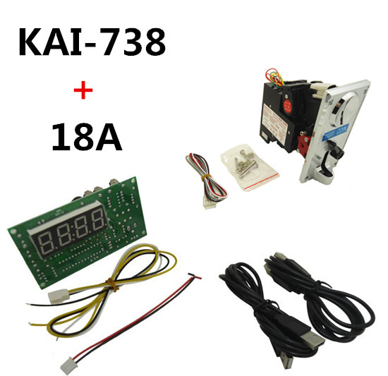 KAI-738 CPU coin acceptor selector with USB timer board, control power of USB device, keyboard, mouse,