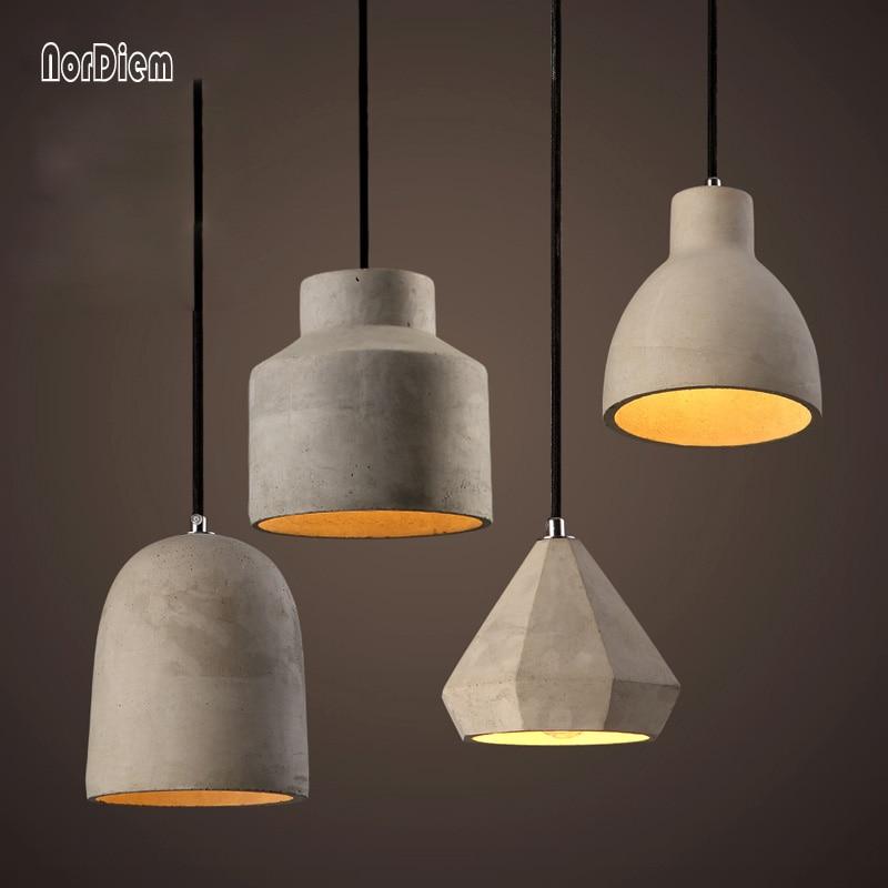 20 Kinds Loft Cement Pendant Lights Modern Industrial