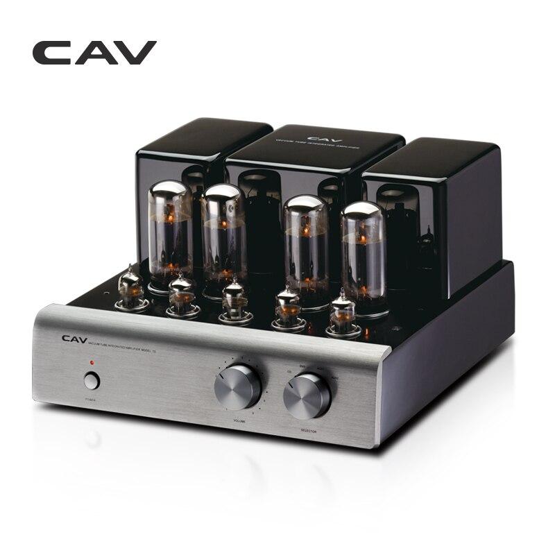 CAV T-5 Tube Amplificateur Haute Qualité Fabrication Dac HIFI Amplificateur Audio Pour Haut-parleurs 20 W Canal 2.0 Haute Fidélité Puissance