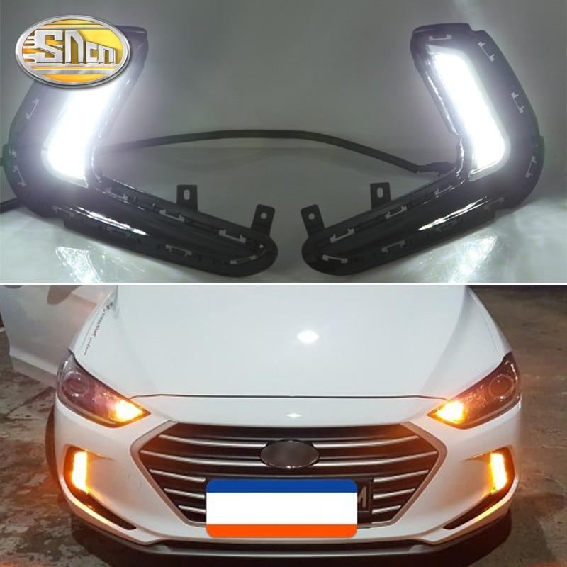 2PCS For Hyundai Elantra 2016 2017 2018 Turn Yellow Signal Relay 12V Car DRL Lamp Waterproof