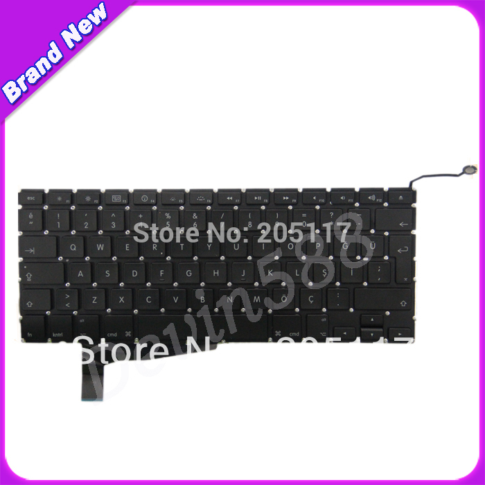 A LOT OF 5 PCS KEYBOARD FOR Macbook Pro A1286 Turkish keyboard 2008 for macbook pro a1286 turkish keyboard for year of 2008 one year warranty