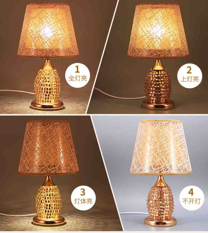 New 2017 Modern Table Lamps Metal Personalized Desk Lamp With Glass Shade For Beside Home Decor