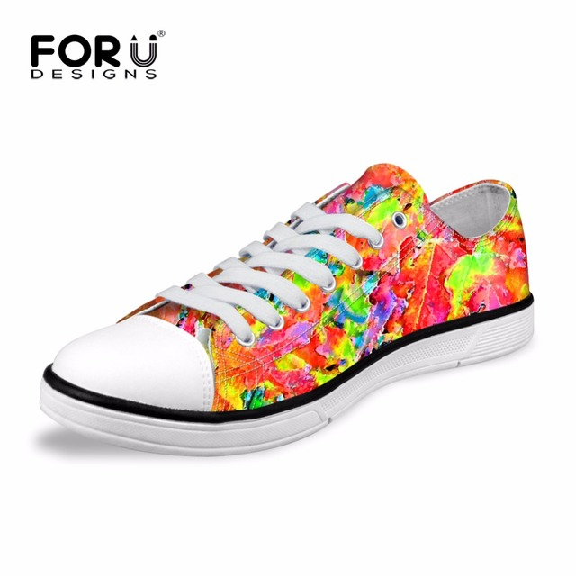 FORUDESIGNS Unique Men Low Top Shoes National Retro Breathable Loafers Flats  for Ladies High Quality Comfort Casual Lace-up 525775e538f1