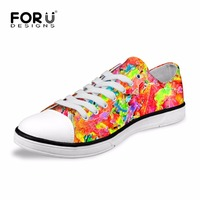FORUDESIGNS Unique Men Low Top Shoes National Retro Breathable Loafers Flats for Ladies High Quality Comfort Casual Lace up