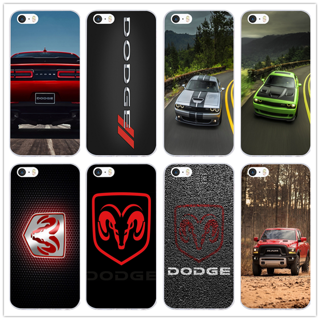 quite nice cdd55 39fa7 US $1.99 |Dodge Challenger Ram Logo Soft TPU Silicone Transparent Mobile  Phone Cases for iPhone X 10 7 6 6s 8 Plus 4 4S 5 5S SE 5C Shell-in ...