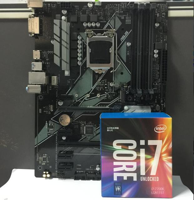 Asus PRIME Z370 P Desktop Motherboard LGA 1151 With I7 7700K I7