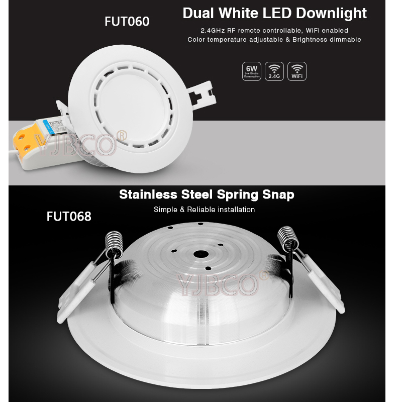 Back To Search Resultslights & Lighting Ceiling Lights & Fans Milight Fut068 6w Rgb+cct Led Downlight Ac100-240v Led Panel Light Dimmable Compatible 2.4g Hz Rf Fut092 Remote App Control A Great Variety Of Models