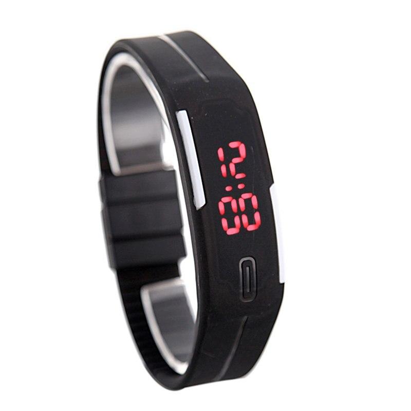 Topnotch Top Brand Simple Casual Silicone Digital Watch Cool Press Button BU22
