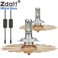 Zdatt H4 Led Lamp Hi Lo Beam ZES Fanless Car Light Canbus Bulb 9003 HB2 100W 12000LM light 12-24V 6000K Auto Motorcycle