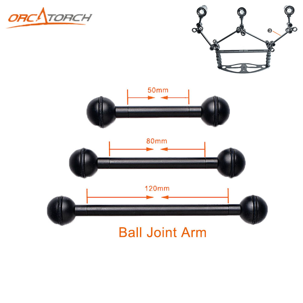 Underwater Photo Tray Accessories 50mm Ball Joint Arm Adapter Mount Connector for Dive Photography Fill Light System цены