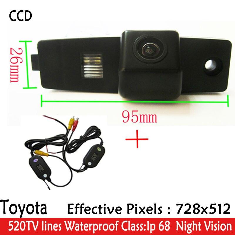 WIFI caméra LED Vision Nocturne imperméable à l'eau HD CCD Puce De Voiture Rétroviseur N ° buckup Caméra de Stationnement pour Highlander Kluger Lexus RX300
