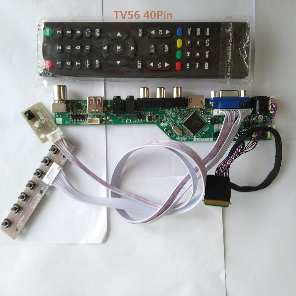 Kit For N173FGE-L23 1600X900 Controller Driver Board LCD LED TV AV 17.3
