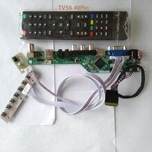 "kit for N173FGE L23 1600X900 Controller driver board LCD LED TV AV 17.3"" VGA remote 40pin LVDS Panel Screen USB HDMI"