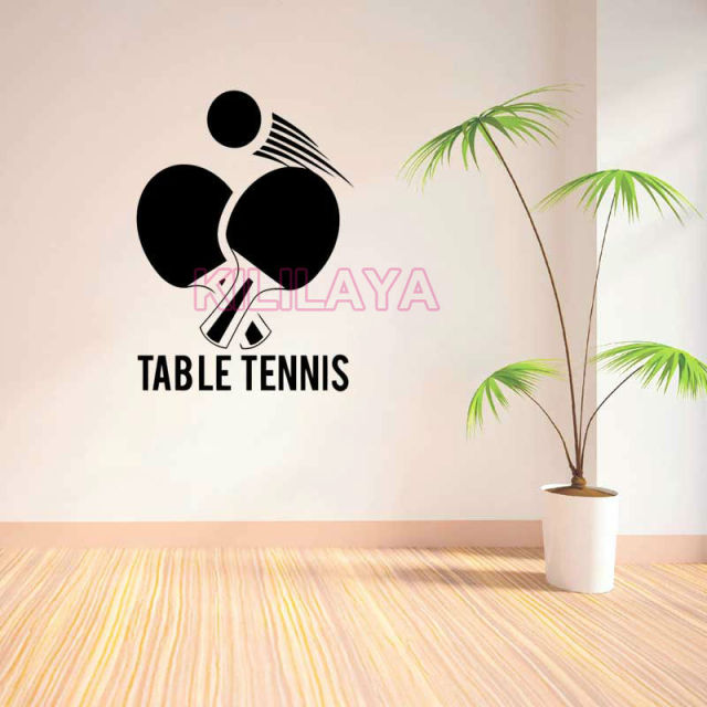 Wall Stickers Table Tennis Sport Vinyl Sticker Decal Ping Pong Walls Decals Home Decor