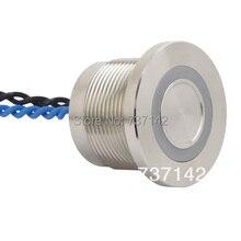 """ELEWIND 22 מ""""מ טבעת מוארת מתג piezo (22 מ""""מ, PS223P10YSS1B24T, Rohs, CE)"""
