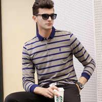 2018 mens polo shirt brands Striped Embroidered Jacquard Lapel Polo Shirt long sleeve polo shirts men COTTON High quality merk
