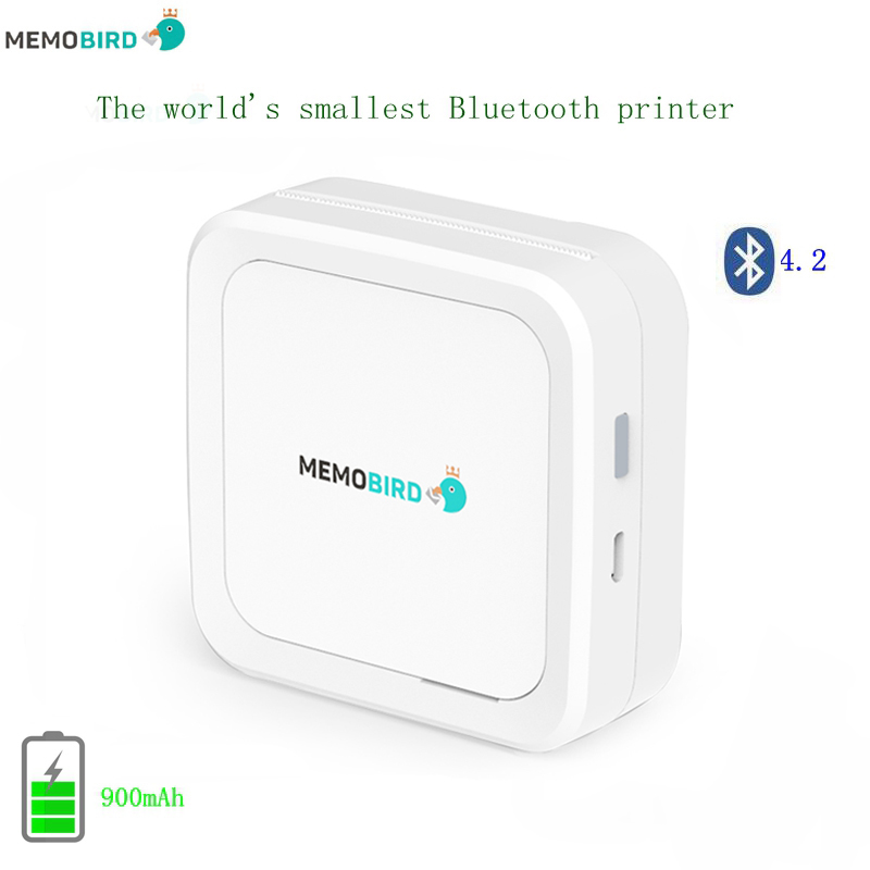 New Bluetooth 4.2 Portable Printer MEMOBIRD G3 Phone Photo printer Pocket Mini Sticker Thermal printer USB Micro connector
