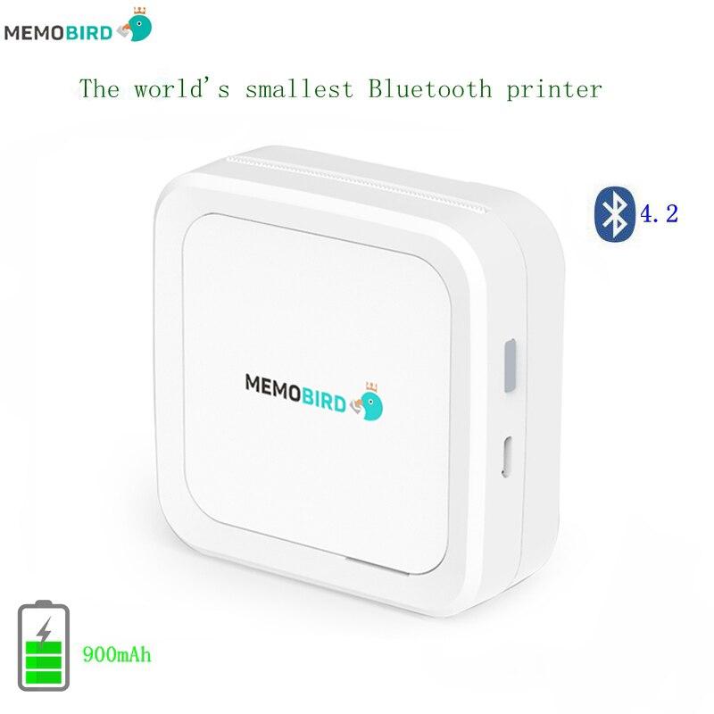 Nuovo Bluetooth 4.2 Portatile Stampante MEMOBIRD G3 stampante Fotografica Del Telefono Pocket Mini Sticker stampante Termica USB Micro connettore