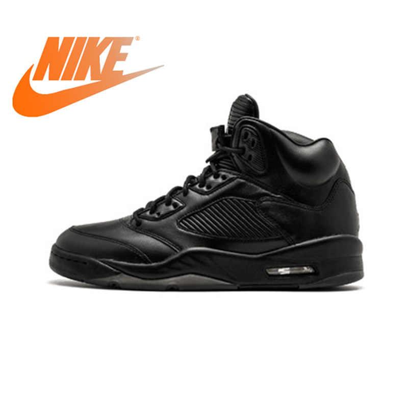 a8deba6bd7dd64 Official Original Nike Air Jordan 5 Retro Prem Men s Basketball Shoes  Breathable Professional Training Sneakers Durable