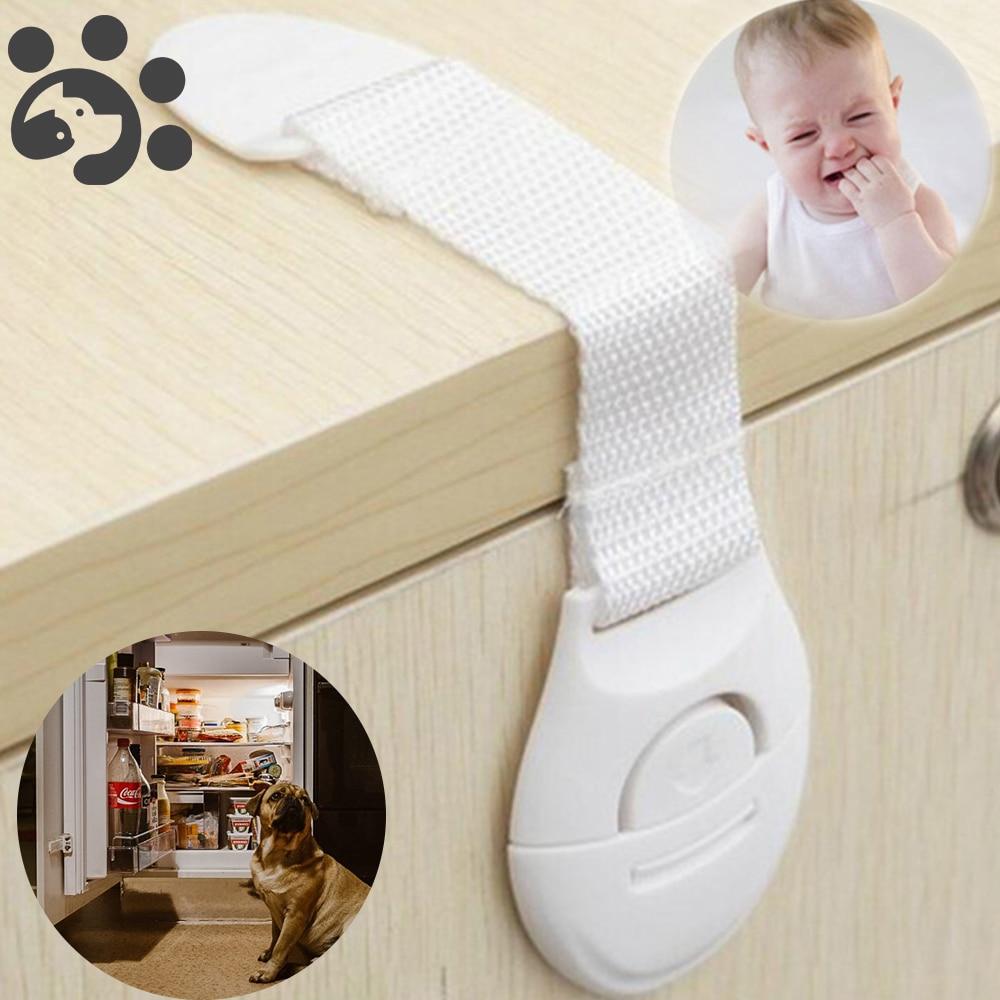10pcs Puppy Safety Locks For Refrigerators Door Baby Safe Protection From Children Lock Castle Security Blocker Padlock HM0001