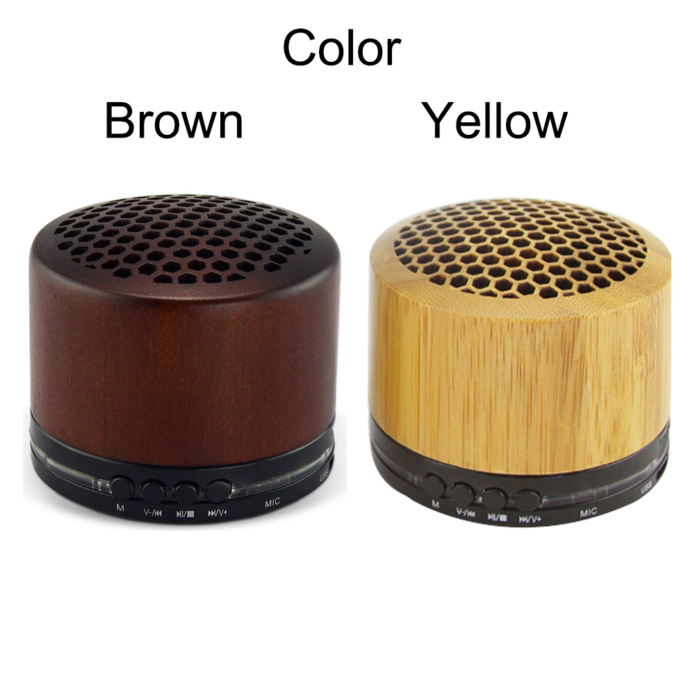 Wireless Mini Wooden Bluetooth Speaker 3D Stereo Subwoofer Multi-Audio Bamboo Portable Sound Box Super Bass Hifi With Mic