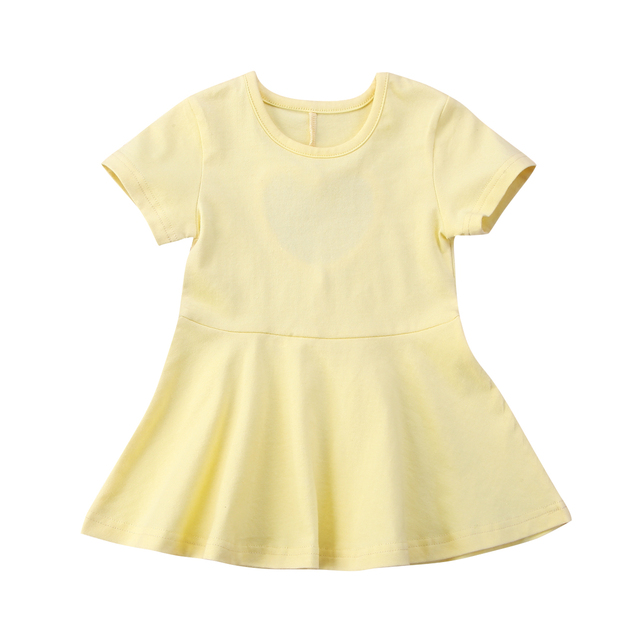 bcdebd40a7c9 Cute Newborn Kids Baby Girls Backless Solid Cotton Soft Behind Heart ...